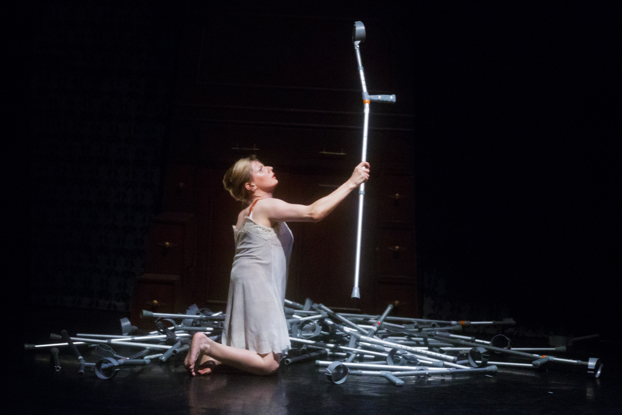 Claire Cunningham in 'Ménage à Trois' at the Tramway Theatre, Glasgow (Dress Rehearsal August 23rd, 2012)